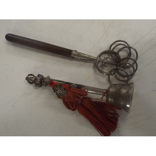 19 - 2 vintage Tibetian ceremonial bells quality made....