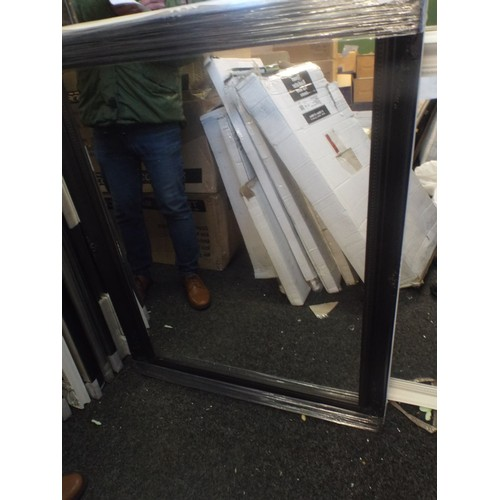 30 - 40 x 30 black swept mirror...
