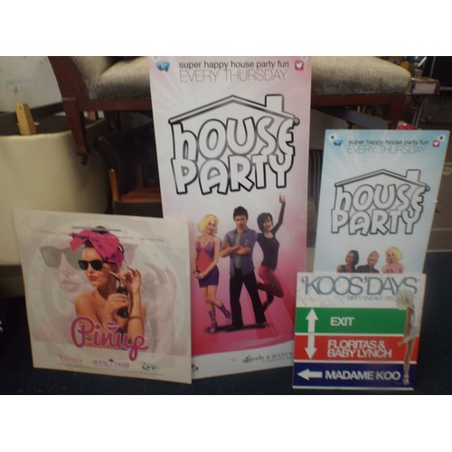 33 - 4 advertising signs alloy coated plastic....
