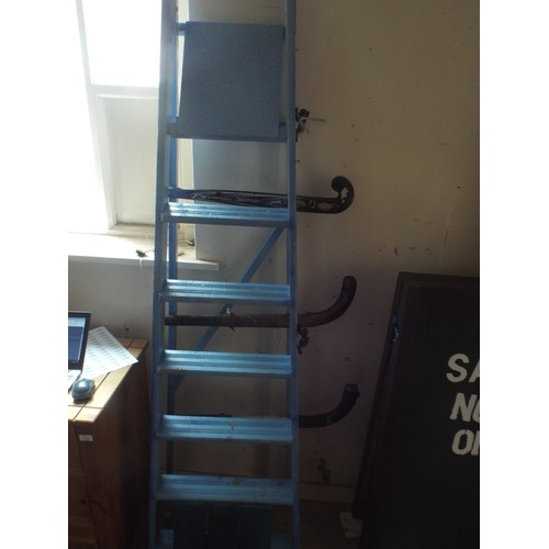 34 - Wooden painted abstract Display ladders....