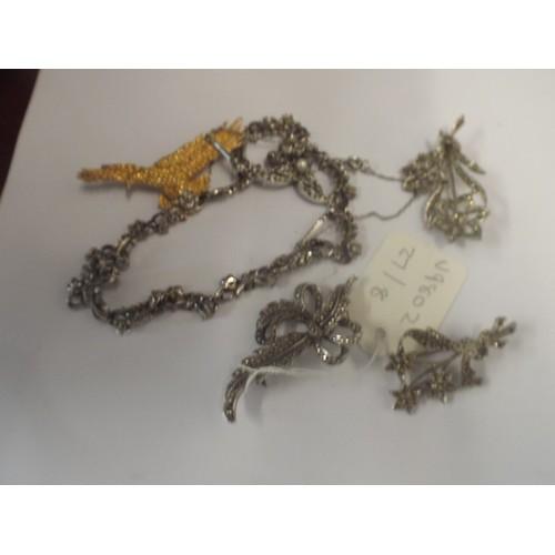 45 - Marcasite assorted jewellrey...