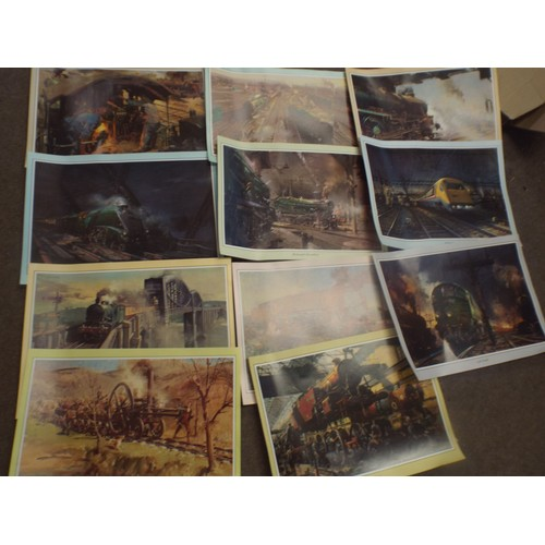 50 - Nice Collection of Railway, Trains colour prints approx. 18 x 14 inches...