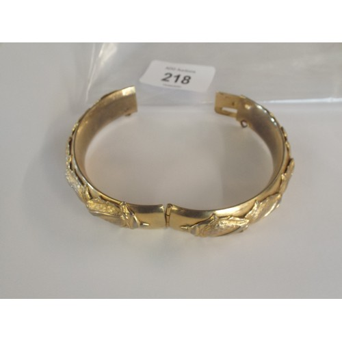 3 - Gold plated nicely decorated bangle...