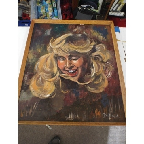 31 - Vivid Retro original oil painting signed GT Wellstead. approx. 28 x 24 inches....