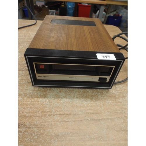 37 - Sharp 8 track cartridge home stereo unit...