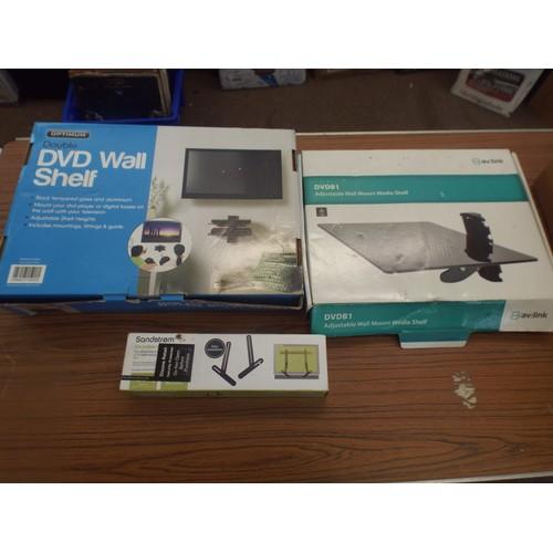 13 - 2 TV/Video/soundbar mount kits sold as seen....