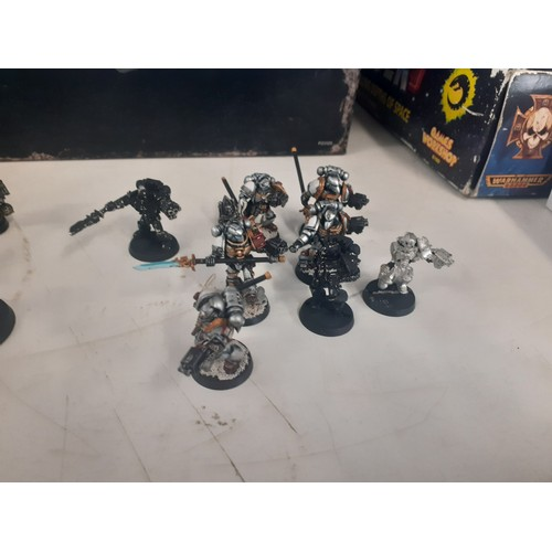 36 - large collection of warhammer 40k gray knight figures mostly metal (14 paladins (mostly metal),56 st...