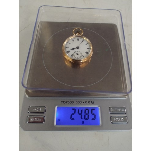 1 - 15ct gold pocket watch 24.85 g in excellent condition...