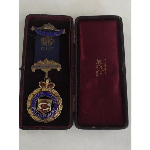 2 - Cased Raob silver philanthropy medal - weight 47.22...
