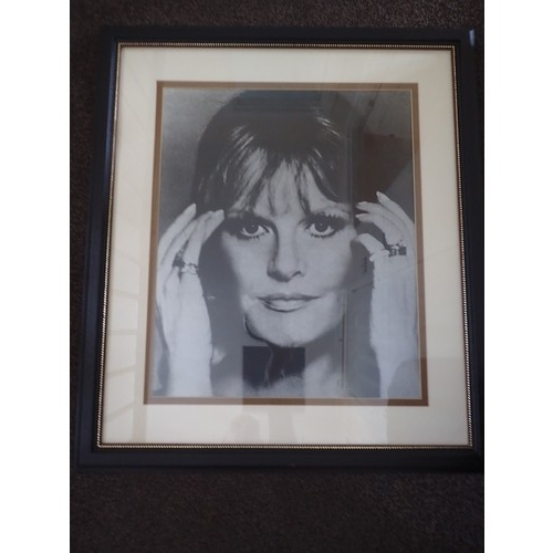 17 - Large framed Black n White Retro iconic 1960's Photo. Approx 34 x 30 inches....