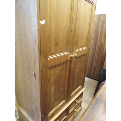 21 - Pine double wardrobe...