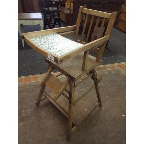 27 - Vintage metamorphic high chair....
