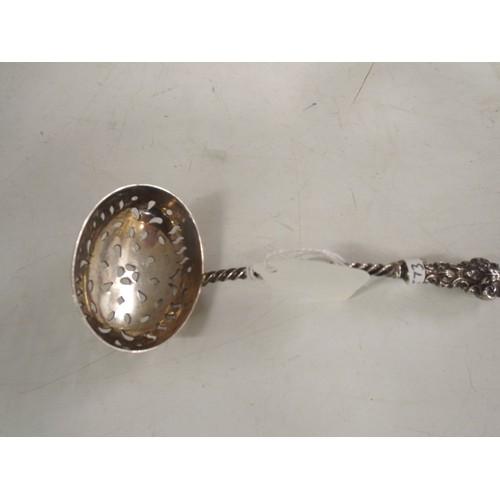 33 - A Silver sugar shaker spoon 20g...