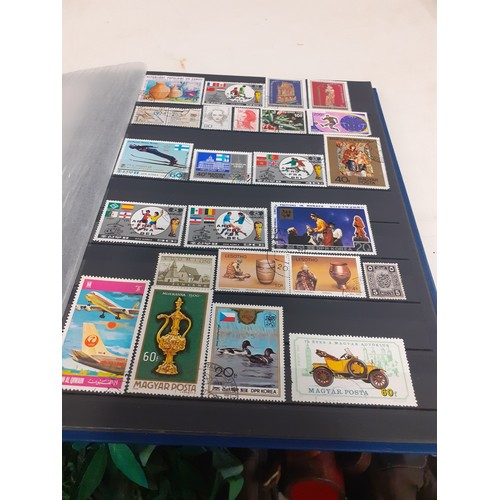 26 - Exceptional stamp album of 56 pages of assorted stamps. including very unusual issues from around th...