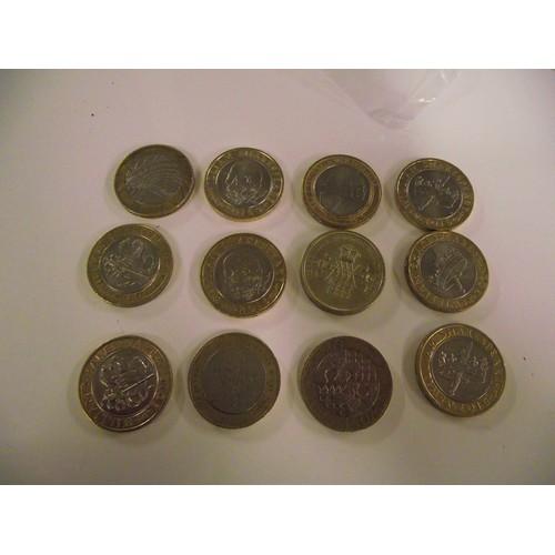 30 - 12 collectors £2 coins...