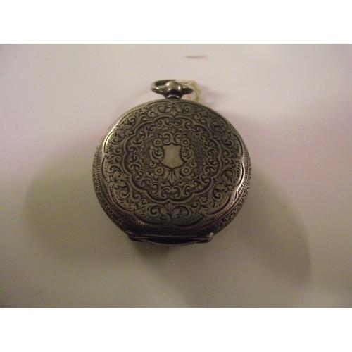 22 - Continental silver pocket watch...