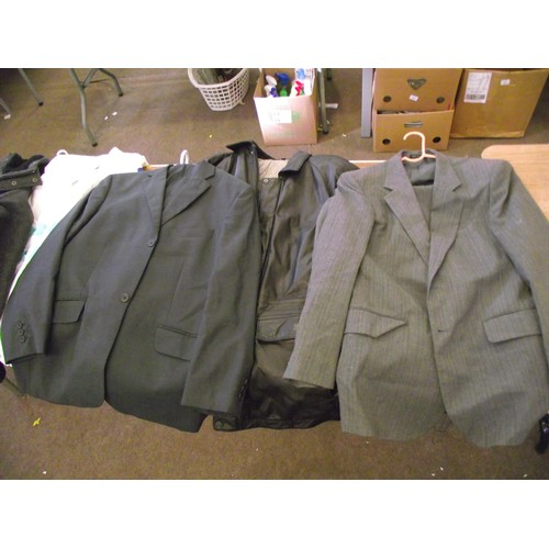 1 - Selection of gents suits, coats....