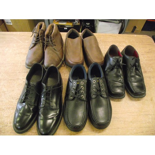 2 - Selection of good condition size 10uk gents shoes inc Clarks, US Brass ect....