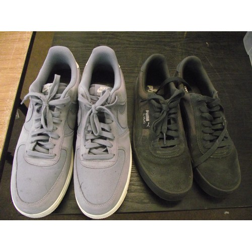 3 - Pair of good condition Nike Air + Puma trainers size 10uk....