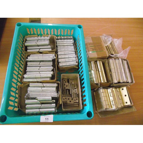11 - Large amount of various size door hinges new unused....
