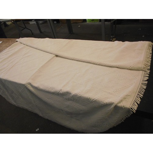 16 - 97 x 68 inches quality throw with tassels....