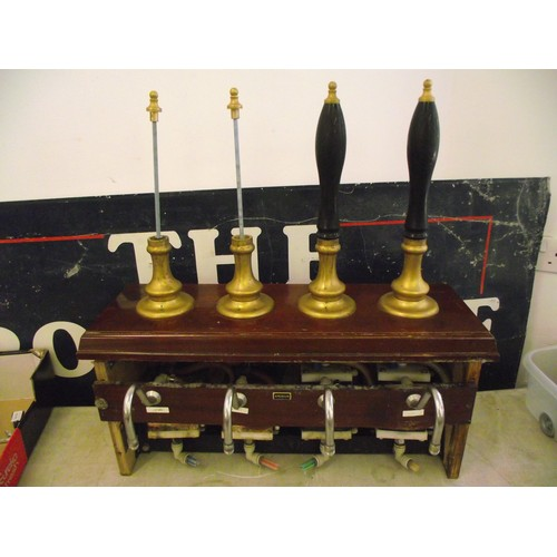 25 - Original vintage Beer pumps taken from bar. Has engines inside very heavy no post pick up or arrange...
