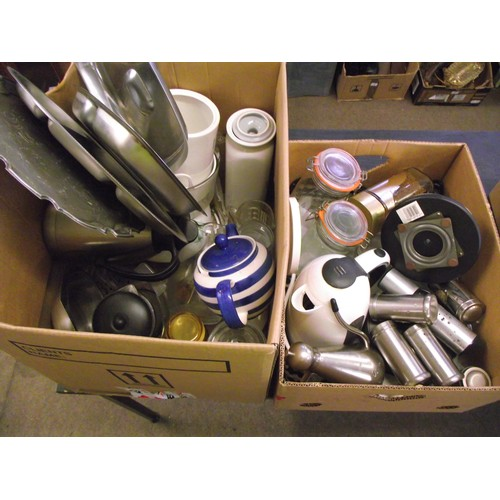 32 - 2 good boxes of kitchen wares....