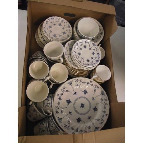41 - Large box of Duchess and Churchill china....