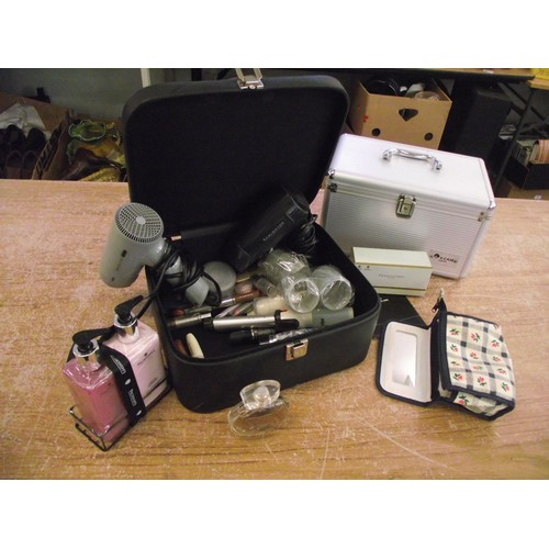 46 - Vanity case inc contents perfume, cosmetics, hairdriers ect....