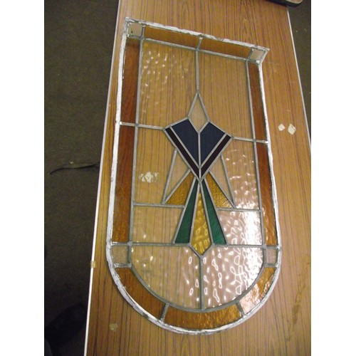 62 - Stained glass window, with slight damage approx. 3ft x 19 inches...