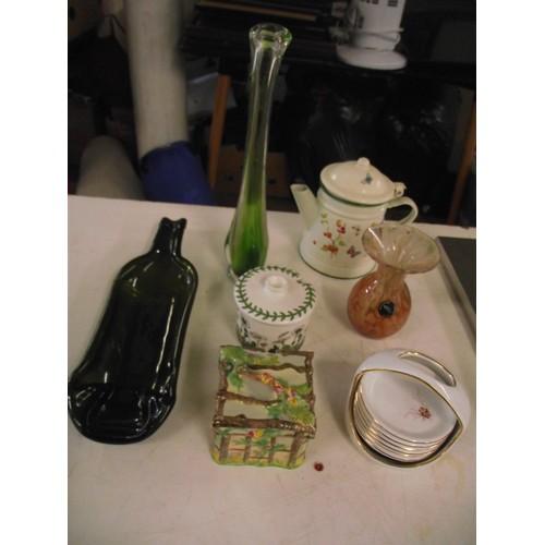 60 - Royal winton pot, vintage glass ect...