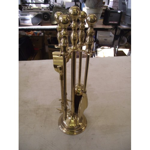 50 - Brass companion set....