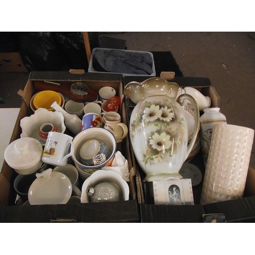 57 - 2 boxes of various vintage and other china ect....