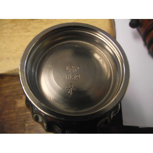 51 - Good quality silver plate possibly German tea set. Stamped B?F 1639....