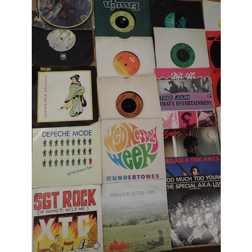 696 - Good box of vinyl singles inc Punk Rock era, Ska, Metal, Rock etc many more various era's inc AC/DC,...