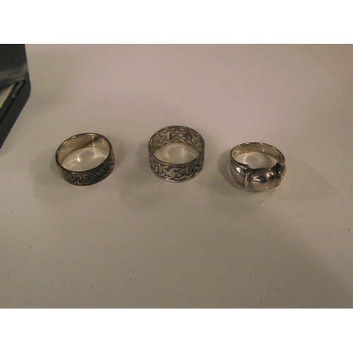 82 - 3 good quality silver rings 16.78g