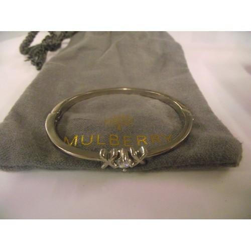 90 - Mulberry boxed white metal bracelet