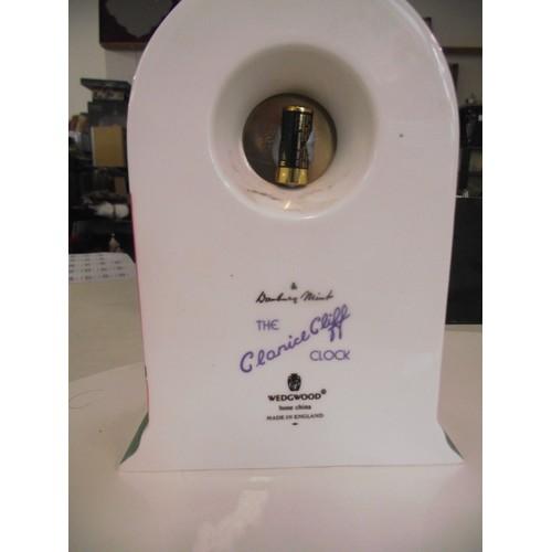 110 - Wedgwood , danbury mint clarice cliff clock