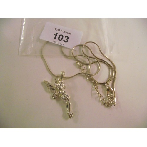 103 - Silver cherub necklace