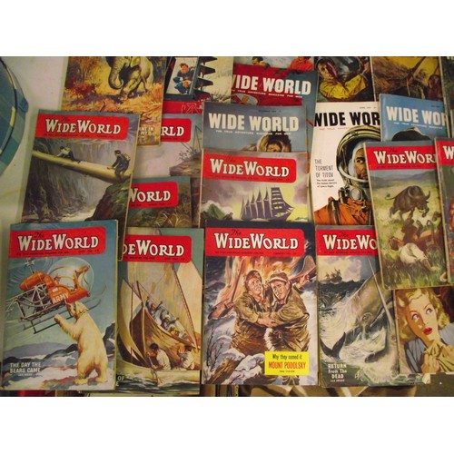129 - Large collection of rare vintage Mens adventure magazines 1950's