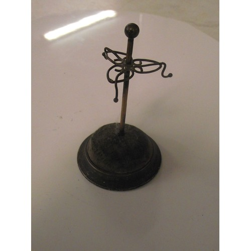 122 - Silver hall marked pin cushion - ring stand