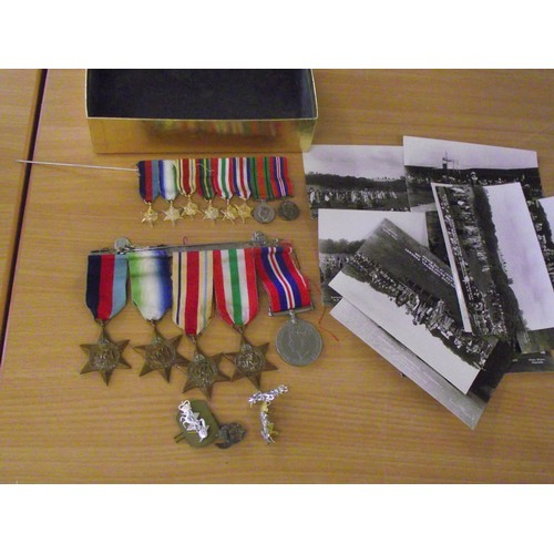 221 - Various Military medals, insignia etc....