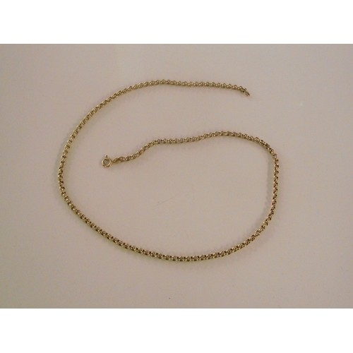 143 - 9ct gold necklace weight 5.96 g