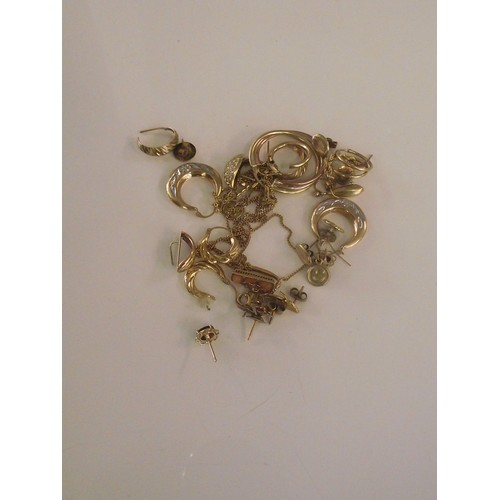 145 - Assorted 9ct gold weight 16.65 g