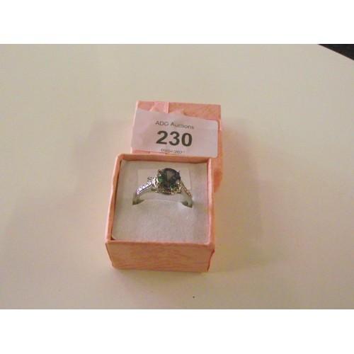230 - Nice looking sterling silver ring...