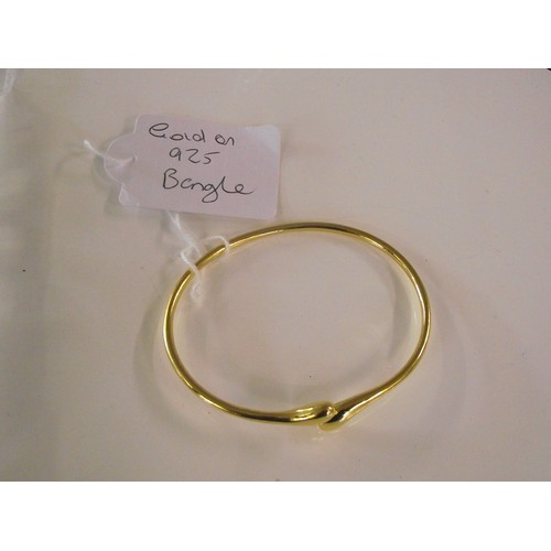 248 - Gold plated 925 silver bangle