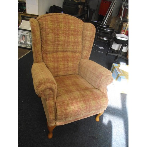 282 - Good quality fireside wingback chair RRP£600