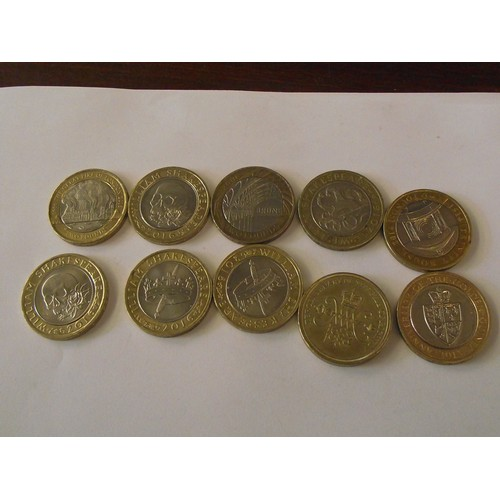 305 - 10 various collectors £2 coins