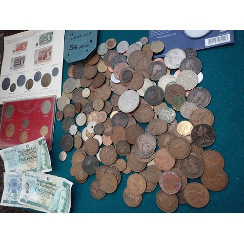 291e - Good Collection of vintage coinage & Tokens inc Victorian etc. + collectors packs etc.