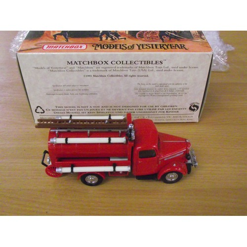 364 - boxed matchbox fire engine